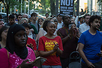 NEW YORK, NY - JUNE 20: People attend a rally during World Refugee Day from Trump Tower World to Dag Hammarskjold Plaza in New York City on June 20,20117. (Photo by Maite H. Mateo/VIEWpress/Corbis via Getty Images)