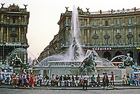 Italy: Rome--Piazza D. Repubblica, Fountain of the Naiads. Photo '83.