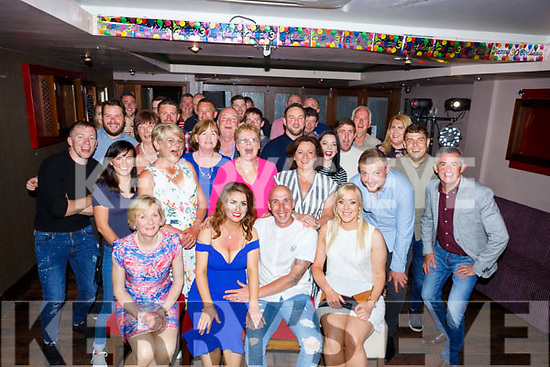 Kevin Greensmyth, (seated) celebrating his 30th birthday in the Abbey Inn with family and friends on Saturday night.  <br /> Seated l-r, Helen Greensmyth, Lisa Coffey, Kevin and Gillian Greensmyth.