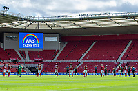 A minutes applause during the Sky Bet Championship match between Middlesbrough and Swansea City at The Riverside Stadium on June 20, 2020 in Middlesbrough, England, UK.  Saturday 20th June 2020