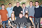 Birthday Boy - Dan O'Sullivan, St. Brendan's Pk., seated centre having a great time at his 25th birthday party held in The Dragon Inn Chinese Restaurant on Saturday night. Seated l/r Susan Griffin, Dan O'Sullivan and Sarah Scanlon. Standing l/r Glen Creighton, Luke Osade, Jonathon Courcrane, James O'Grady, David O'Grady and Gavin Griffin..Birthday Boy - Dan O'Sullivan, St. Brendan's Pk., seated centre having a great time at his 25th birthday party held in The Dragon Inn Chinese Restaurant on Saturday night. Seated l/r Susan Griffin, Dan O'Sullivan and Sarah Scanlon. Standing l/r Glen Creighton, Luke Osade, Jonathon Courcrane, James O'Grady, David O'Grady and Gavin Griffin..   Copyright Kerry's Eye 2008