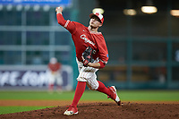 Houston Cougars relief pitcher Dylan Lester (36) in action against the Vanderbilt Commodores during game nine of the 2018 Shriners Hospitals for Children College Classic at Minute Maid Park on March 3, 2018 in Houston, Texas. The Commodores defeated the Cougars 9-4. (Brian Westerholt/Four Seam Images)