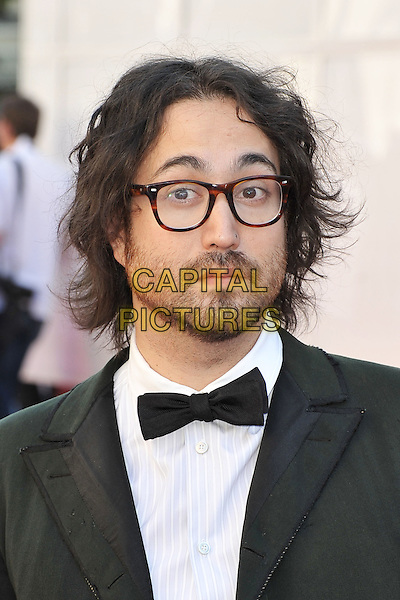 Sean Lennon.Arrivals to the UK Premiere of 'George Harrison: Living In The Material World' at BFI Southbank, London, England..October 2nd, 2011.headshot portrait black tuxedo white shirt glasses beard facial hair bow tie.CAP/MAR.© Martin Harris/Capital Pictures.