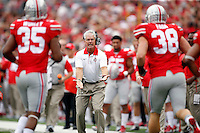 Ohio State Buckeyes cornerbacks coach Kerry Coombs against Western Michigan Broncos in their game at Ohio Stadium on September 26, 2015.  (Dispatch photo by Kyle Robertson)