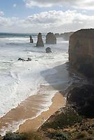 De Twaalf Apostelen, rots formaties als overblijfselen van de kust erosie, Zuid West Victoira - Australi'