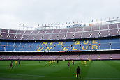 1st October 2017, Camp Nou, Barcelona, Spain; La Liga football, Barcelona versus Las Palmas; panormaic view of the Camp Nou without supporters as the game is played behind closed doors due to the riots in Barcelona during the Catlaonio referendum