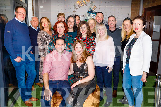 Anna Curtin from Abbeydorney, celebrating her 40th birthday in Benners Hotel on Saturday December 21st.<br /> Seated with her husband Alan Teahan.