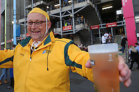 A Wallabies fan enjoying the pre-match atmosphere before Match 26 of the Rugby World Cup 2015 between England and Australia - 03/10/2015 - Twickenham Stadium, London<br /> Mandatory Credit: Rob Munro/Stewart Communications