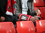 A scarf showing Mohamed Salah of Liverpool during the Champions League Quarter Final 1st Leg, match at Anfield Stadium, Liverpool. Picture date: 4th April 2018. Picture credit should read: Simon Bellis/Sportimage
