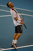 Leyton Hewitt and Samantha Stosur of Australia against John Isner and Melanie Oudin of the USA. Isner & Oudin beat Hewitt & Stosur 2-6 6-1 7-6..International Tennis - Hyundai Hopman Cup XXII - Tues 05 Jan 2010 - Burswood Dome - Perth - Australia ..© Frey, AMN Images, Level 1, Barry House, 20-22 Worple Road, London, SW19 4DH