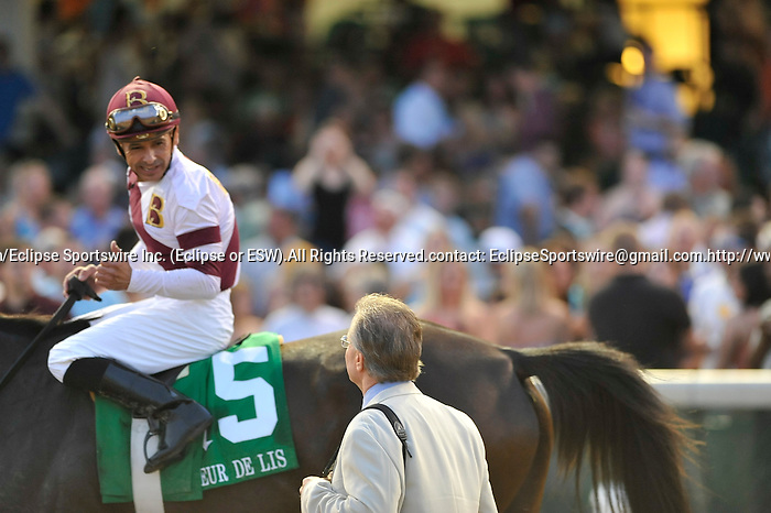 Royal Delta ridden by Mike Smith and trained by William Mott  win the G2 Fleur De Lis Handicap at Churchill Downs in Louisville, Kentucky Saturday June 16, 2012.