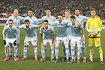 Celta de Vigo's team photo with John Guidetti, Gustavo Cabral, Pablo Hernandez, Daniel Wass, Sergi Gomez, Ruben Blanco, Fabian Orellana, Jonny Castro, Hugo Mallo, Iago Aspas and Nemanja Radoja during Spanish Kings Cup match. January 27,2016. (ALTERPHOTOS/Acero)