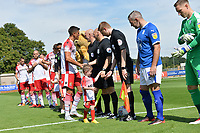 Players line up during Stevenage vs Tranmere Rovers, Sky Bet EFL League 2 Football at the Lamex Stadium on 4th August 2018