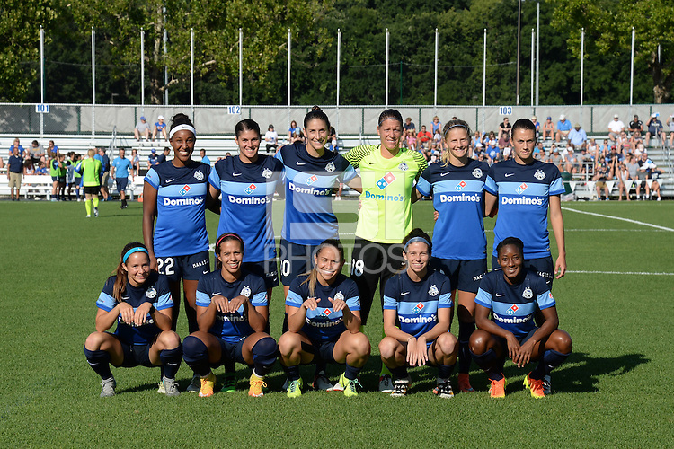 Kansas City, MO - Saturday July 16, 2016: FC Kansas City Starting XI prior to a regular season National Women's Soccer League (NWSL) match between FC Kansas City and the Washington Spirit at Swope Soccer Village.