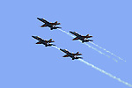 The BLUE ANGELS in FORMATION<br />