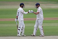 Tom Westley (L) and Nick Browne enjoy a useful partnership for Essex during Yorkshire CCC vs Essex CCC, Specsavers County Championship Division 1 Cricket at Emerald Headingley Cricket Ground on 5th June 2019