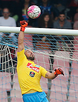 Napoli's Pepe reina    in action during the Italian Serie A soccer match between SSC Napoli and AC Fiorentina  at San Paolo stadium in Naples,October 18, 2015