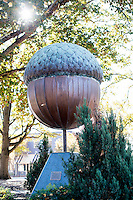 "A sculpture in Moore Square Park honoring Raleigh's title as the ""City of Oaks"". The Big Acorn is dropped from a crane every New Year's Eve at midnight during the First Night Raleigh celebration."