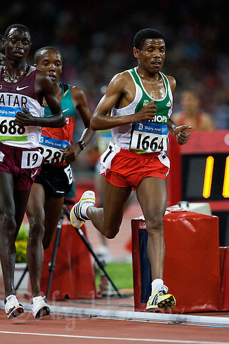 17 AUG 2008 - BEIJING, CHN - Haile Gebrselassie (ETH) - Mens 10000m Final - Beijing Olympics. (PHOTO (C) NIGEL FARROW) *** IOC RULES APPLY ON USAGE ***