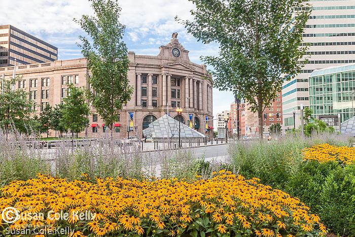 South Station in Dewey Square, Boston, MA, USA