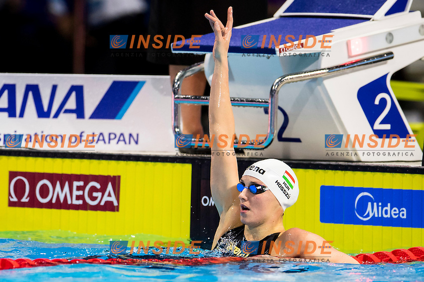 HOSSZU Katinka HUN Gold Medal<br /> Women's 100m Backstroke<br /> 13th Fina World Swimming Championships 25m <br /> Windsor  Dec. 7th, 2016 - Day02 Finals<br /> WFCU Centre - Windsor Ontario Canada CAN <br /> 20161207 WFCU Centre - Windsor Ontario Canada CAN <br /> Photo &copy; Giorgio Scala/Deepbluemedia/Insidefoto