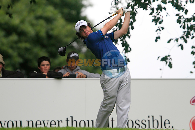 Rory McIlroy tees off on the 14th tee during Day 2 of the 3 Irish Open at the Killarney Golf & Fishing Club, 30th July 2010..(Picture Eoin Clarke/www.golffile.ie)
