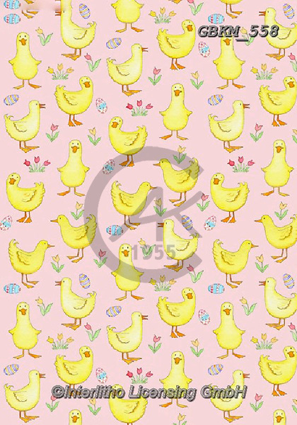 Kate, GIFT WRAPS, GESCHENKPAPIER, PAPEL DE REGALO, paintings+++++Easter Ducklings.,GBKM558,#gp#, EVERYDAY