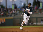 Reno Aces&rsquo; Socrates Brito hits a triple against the Las Vegas 51s in Reno, Nev. on Saturday, June 3, 2017. The 51s won 9-5.<br /> Photo by Cathleen Allison/Nevada Photo Source