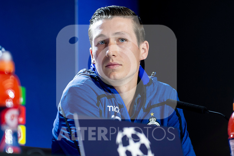 Club Brujas player Hans Vanaken during press conference the day before Group Stage UEFA Champions League match between Atletico de Madrid and Club Brujas at Wanda Metropolitano Stadium in Madrid, Spain. October, 2018. (ALTERPHOTOS/Borja B.Hojas)