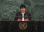 Opening of GA 72 2017 PM<br /> <br /> by His Excellency Evo Morales Ayma, Constitutional President of the Plurinational State of Bolivia
