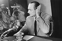 France, Paris. Jacques Chirac, Premier Ministre, conference de presse a propos de la cohabitation. 21 juillet 1986 - ©Jean-Claude Coutausse / french-politics.com - ©Jean-Claude Coutausse / french-politics