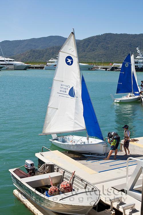 Sailing club boats at Marlin Marina.  Cairns, Queensland, Australia