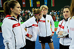 Leipzig, Germany, February 08: German players look on after the final between Germany and The Netherlands at the FIH Indoor Hockey Women World Cup on February 8, 2015 at the Arena Leipzig in Leipzig, Germany. (Photo by Dirk Markgraf / www.265-images.com) *** Local caption ***