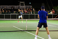 ABNAMRO World Tennis Tournament, 14 Februari, 2018, Rotterdam, The Netherlands, Ahoy, Tennis, Tallon Griekspoor (NED), Roger Federer (SUI)<br /> <br /> Photo: www.tennisimages.com