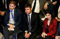 Davide Casaleggio, Alessandro di Battista and Virginia Raggi<br /> Rome January 22nd 2019. Convention of the Movement 5 Stars party to explain the Basic Income Law just approved.<br /> Foto Samantha Zucchi Insidefoto