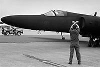 - U.S. Air Force strategic reconnaissance plane TR-1 (U 2) on  Greenham Common English air base<br /> <br /> - aereo da ricognizione strategica TR-1 ( U 2 ) dell' US Air Force sulla base aerea inglese di Greenham Common