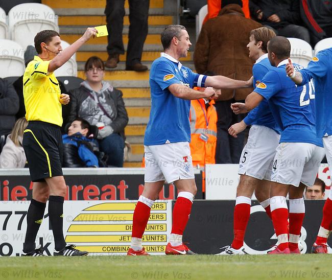 Sasa Papac loses his cool as David Weir has to pull him off referee Craig Thomson