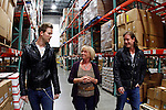 Florida Georgia Line's Brian Kelley, left, and Tyler Hubbard walk with Jaynee Day, president and CEO of Second Havest Food Bank of Middle Tennessee in support of Outnumber Hunger, on Tuesday, March 19, 2013, in Nashville, Tennessee.  (Photo by Wade Payne/Invision for General Mills/AP Images)