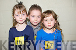 COMPETITING: Niamh Barrett,Darragh and Shauna Quinlan competing in the 14th Annaul Causeway Feis at Causeway Secondry School on Sunday................... . ............................... ..........