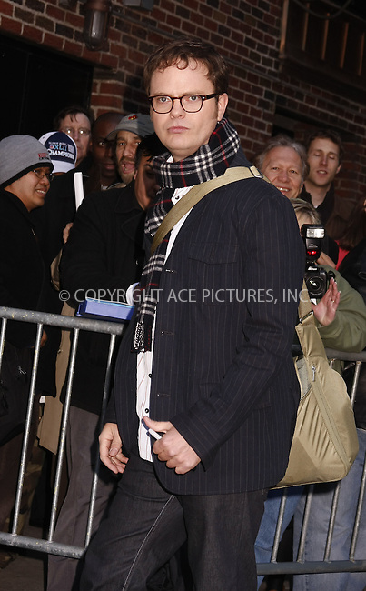 WWW.ACEPIXS.COM . . . . .  ....March 17 2008, New York City....Actor Rainn Wilson made an appearance at the 'Late Show with David Letterman' at the Ed Sullivan Theatre in midtown Manhattan....Please byline: AJ Sokalner - ACEPIXS.COM..... *** ***..Ace Pictures, Inc:  ..te: (646) 769 0430..e-mail: info@acepixs.com..web: http://www.acepixs.com