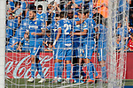 Players of Getafe CF celebrate goal during La Liga match between Getafe CF and Deportivo Alaves at Colisseum Alfonso Perez in Getafe, Spain. August 31, 2019. (ALTERPHOTOS/A. Perez Meca)