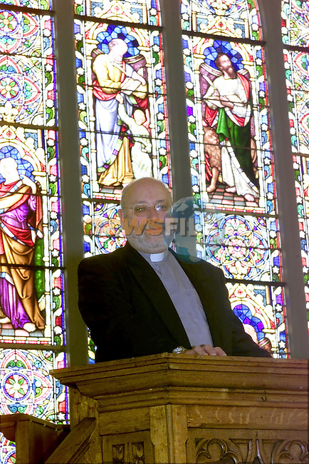 Rev Michael Graham in the restored St Peters church of Ireland..Picture Fran Caffrey Newsfile.