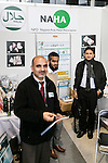 Members of the Nippon Asian Halal Association (NAHA) introduce their products to visitors during the 41st International Food and Beverage Exhibition (FOODEX JAPAN 2016) on March 8, 2016, Chiba, Japan. 3,000 exhibitors from 78 nations are showcasing their products in Asia's largest food and beverage trade show held at Makuhari Messe. This year organisers expect 75,000 visitors during the four day show from March 8 to 11. (Photo by Rodrigo Reyes Marin/AFLO)