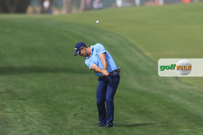 Andrea Pavan (ITA) on the 3rd during Round 1 of the Omega Dubai Desert Classic, Emirates Golf Club, Dubai,  United Arab Emirates. 24/01/2019<br /> Picture: Golffile | Thos Caffrey<br /> <br /> <br /> All photo usage must carry mandatory copyright credit (© Golffile | Thos Caffrey)