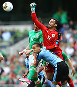 June 4th 2017, Aviva Stadium, Dublin, Ireland; International Friendly, Ireland versus Uruguay;  Esteban Conde of Uruguay makes a punch clearance