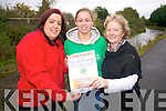 Rosaleen Higgins from Castleisland is to volunteer at the Special Olympics World Summer Games in Athens next summer and this week has kick-started a fund-raising drive to fulfill her dream. The first fund-raiser is a table quiz at the Riverside Inn in Currans this Friday, November 5. .L-R Rosaleen Higgins with  Noelle Scanlon and Mary Anne Breen who are supporting Rosaleen in her fund-raising efforts.