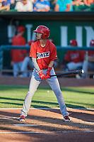 Livan Soto (7) of the Orem Owlz bats against the Ogden Raptors at Lindquist Field on June 19, 2018 in Ogden, Utah. The Raptors defeated the Owlz 7-2. (Stephen Smith/Four Seam Images)