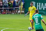 07.07.2019, Parkstadion, Zell am Ziller, AUT, PSP SV WERDER BREMEN vs WSG SWAROVSKI TIROL<br /> <br /> im Bild / picture shows <br /> <br /> <br /> Stefanos Kapino (Werder Bremen #27)<br /> Niklas Moisander (Werder Bremen #18)<br /> <br /> Foto © nordphoto / Kokenge
