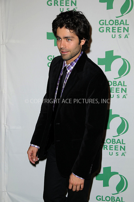 WWW.ACEPIXS.COM . . . . .  ....February 22 2012, LA....Adrian Grenier arriving at Global Green USA's 9th Annual Pre-Oscar Party at Avalon on February 22, 2012 in Hollywood, California....Please byline: PETER WEST - ACE PICTURES.... *** ***..Ace Pictures, Inc:  ..Philip Vaughan (212) 243-8787 or (646) 769 0430..e-mail: info@acepixs.com..web: http://www.acepixs.com