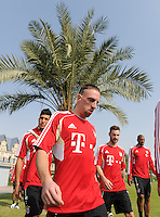 Fussball 1. Bundesliga:  Saison   2011/2012    Winter Trainingslager des FC Bayern Muenchen  03.01.2012 Franck Ribery unter einer Palme